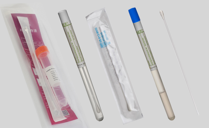 Swabs for sample collection and transportation