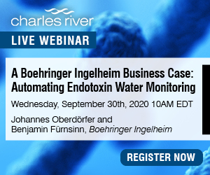 Automating endotoxin water monitoring is the subject of this Charles River webinar