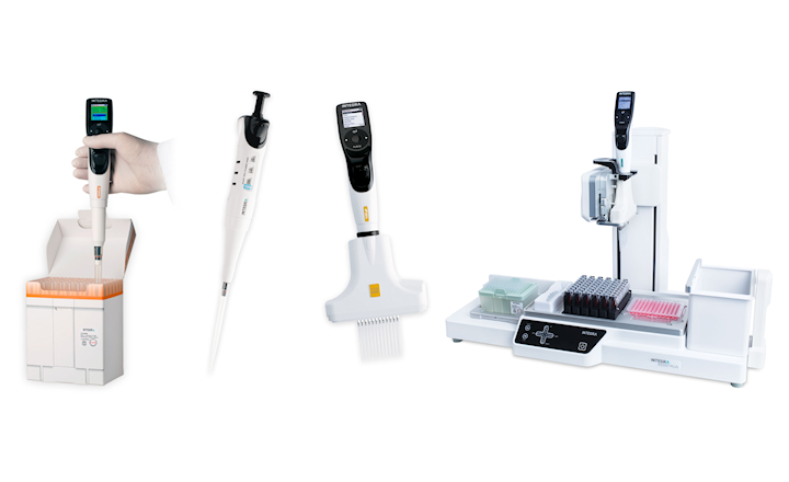 easier liquid handling with INTEGRA range of pipettes