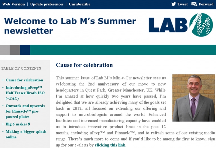 Lab M Newsletter