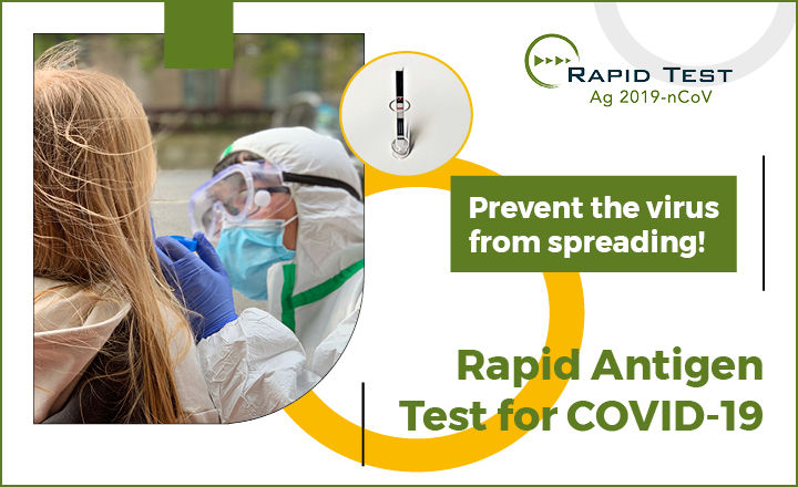 Rapid Antigen test for SARS-CoV-2 the coronavirus that causes COVID-19