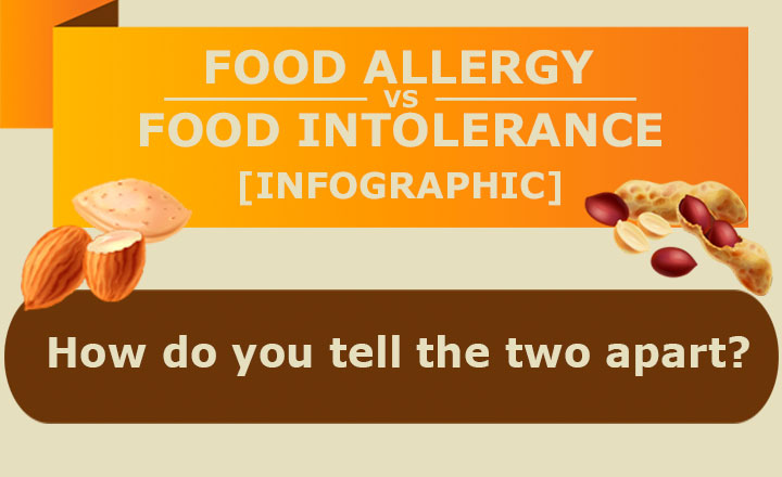 Infographic - food allergy vs intolerance