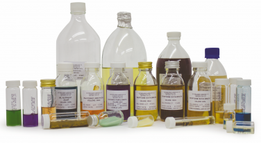 Microbiology media in bottles