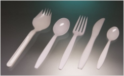 Sampling cutlery for food microbiology