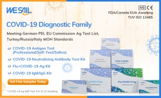 Free Samples WESAIL Biotech COVID-19 CE-Marked Test Family
