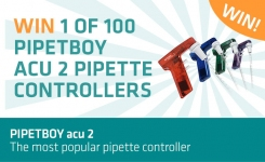 Win one of 100 Pipetboy acu 2 pipette controllers