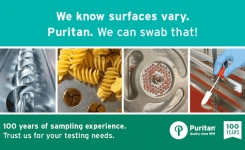 We know surfaces vary Puritan We can swab that