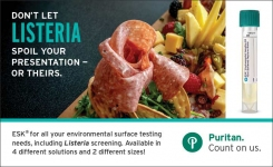Detect Listeria and other contaminants with ESK Environmental Sampling Kit from Puritan